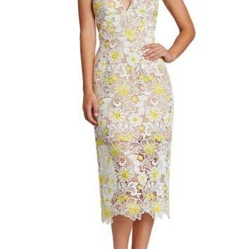 Dress the Population Aurora Floral Midi Dress | Nordstrom