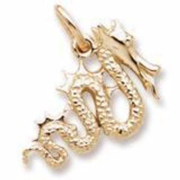 Serpent Charm in Yellow Gold Plated