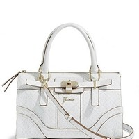 Greyson 4-G Logo Small Satchel at Guess