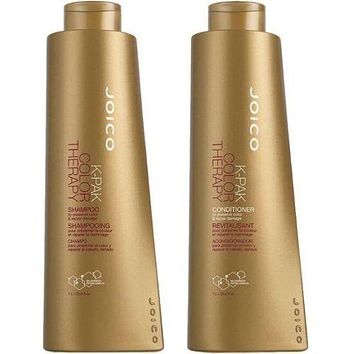 Joico K-Pak Color Therapy Shampoo and Conditioner Liter Size Duo 1L