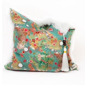 Home Decor 'feathers, flowers, showers' Large Accent Pillow