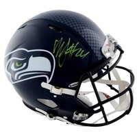 Marshawn Lynch Seattle Seahawks Autographed Riddell Pro-Line Speed Authentic Helmet with Green Signature