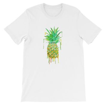 Pineapple Drip Short-Sleeve Unisex T-Shirt