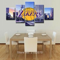 Los Angeles Lakers Basketball Canvas Print