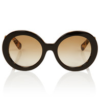 Prada Black Tortoiseshell Baroque Round Sunglasses | Women's Sunglasses by Prada | Liberty.co.uk
