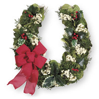 Festive Horseshoe Wreath - Western Wear, Equestrian Inspired Clothing, Jewelry, Home Décor, Gifts