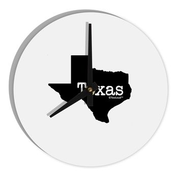 """Texas - United States Shape 8"""" Round Wall Clock  by TooLoud"""