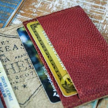 4-Slot Front Pocket Card Sleeve Wallet - The Dip (Horween Football Leather)