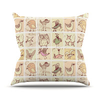 """Marianna Tankelevich """"Birdies"""" Throw Pillow, 18"""" x 18"""" - Outlet Item"""