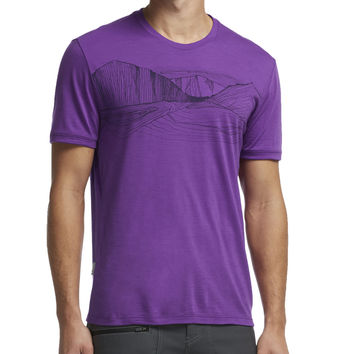 Icebreaker Tech Lite Terra Firma Crew - Short-Sleeve - Men's