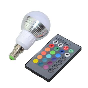 Christmas Holiday Light 3W RGB 100-240V E27 E14 LED Lights RGB Decorative Lighting With IR Remote for Home Garden Decorating