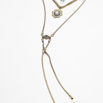 Free People Thunderstruck Metal Necklace