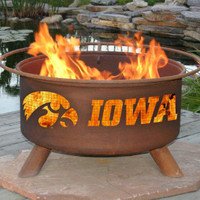 U of I University Of Iowa Hawkeyes NCAA Portable Outdoor Grilling Fire Pit