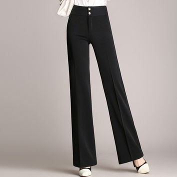 trousers for women 4xl Full length professional business Formal pants women trousers work wear office trousers plus size