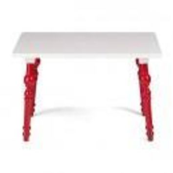 ZUO Modern Baby Alta Table Red & White 98293 Living Coffee,Side,Consoles