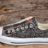 Paisley/Floral Converse All Stars - Adult size