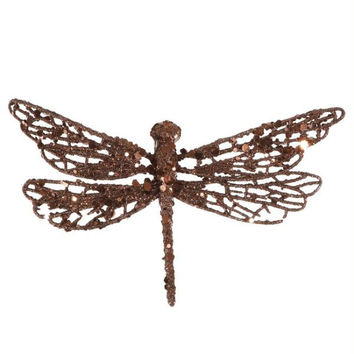 12 Clip-on Dragonfly Ornaments - Ready-to-attach With Alligator Clips Located On The Bottom Of Each Ornament