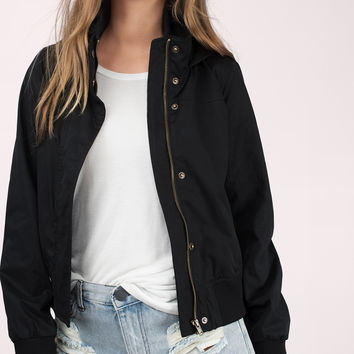 Lainey Cropped Bomber Jacket