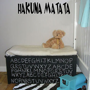 Hakuna Matata Words Decor Wall Mural Vinyl Decal Sticker AL550
