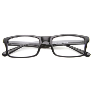 Dapper Rectangle RX Optical Clear Lens Glasses 9882