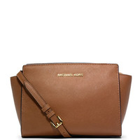 Michael Michael Kors Selma Leather Medium Messenger Bag