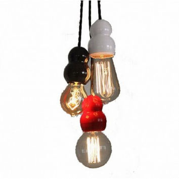 Nordic IKEA concise creative lovely edison slime pendant lamp light