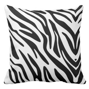 20 X 20 ZEBRA PRINT THROW PILLOW