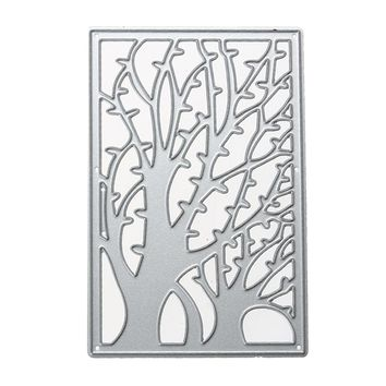 Scrapbooking Metal Cutting Dies Little Trees Frame Stencils for Photo Album Christmas Decoration Embossing Paper Card Craft