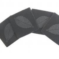 Thirstystone NS014 Slate Coasters - Etched Leaf - Accessories