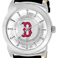 Men's Game Time Watches 'MLB Vintage - Boston Red Sox' Faux Leather Strap Watch, 46mm - Boston Red Sox B