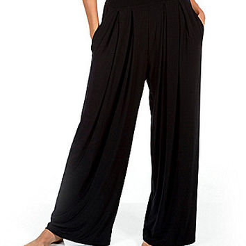 Miraclesuit Solid Coverup Palazzo Pants - Black