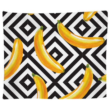 Banana Over Diamonds Tapestry