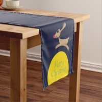 Reindeer Jumps Over The Moon Short Table Runner
