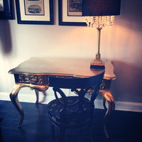 Fabulous and Baroque — Amelie Dressing Table - Gold - Custom Made - Client Photo