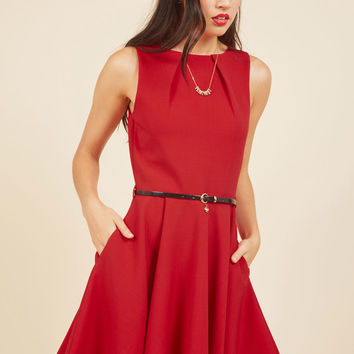 Luck Be A Lady A-Line Dress in Red | Mod Retro Vintage Dresses | ModCloth.com