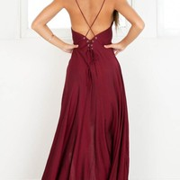 Make You Smile dress in wine Produced By SHOWPO