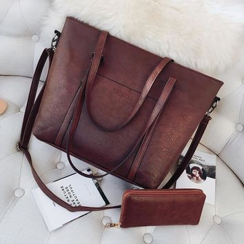 2018 Large Capacity Women Bags Shoulder Tote Bags bolsos Women Messenger Bags With Wallet Famous Designers Leather Handbags Sac