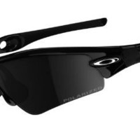 Oakley Asian Fit Radar Path Sunglasses Jet Black / Black Iridium Polarized