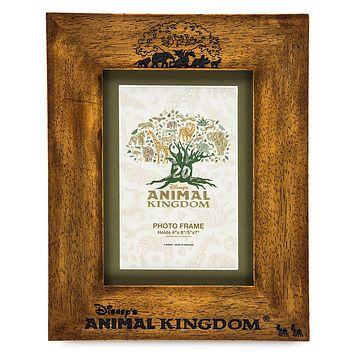 Disney Parks Animal Kingdom 20th Anniversary Wood Photo Frame New