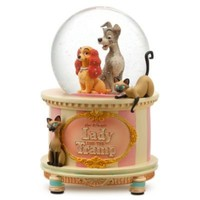 Disney Store 25th Anniversary Lady and the Tramp Snow Globe | Snowglobes (Full Size) | Disney Store