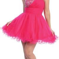 Sexy Short Prom Sweet 16 Party Tutu Hot Dress Sequined Straps Dazzling Fun Gown