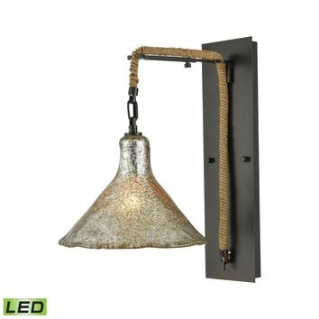 10436/1SCN-LED Hand Formed Glass 1 Light LED Wall Sconce In Oil Rubbed Bronze - Free Shipping!