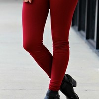 Thermal Lined Solid Leggings - (click for color options)