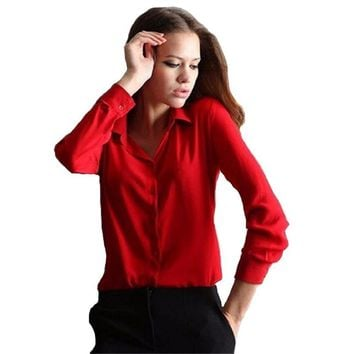 Women's Shirt Chiffon Blouse