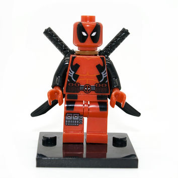 Legoe Compatible Deadpool Minifigure Marvel X-Men Super Heroes Building Blocks Sets Model Bricks Toys For Children