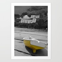 little yellow boat Art Print by  Alexia Miles Photography