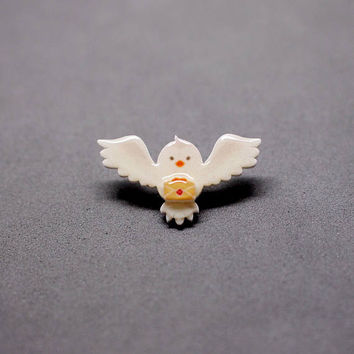 Hedwig Pin / Brooch - Harry Potter / Fantastic Beasts and Where to Find Them / Fantastic Beats Pin / Harry Potter Pin
