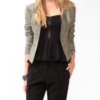 Metallic Single Button Blazer