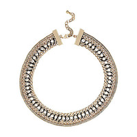 River Island Womens Gold tone woven chain necklace