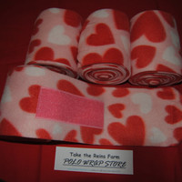 Check out *Take the Reins Farm* Polo Wrap Store here!  Horse polo leg wraps in horse, small/horse or pony size. SWEET HEARTS print